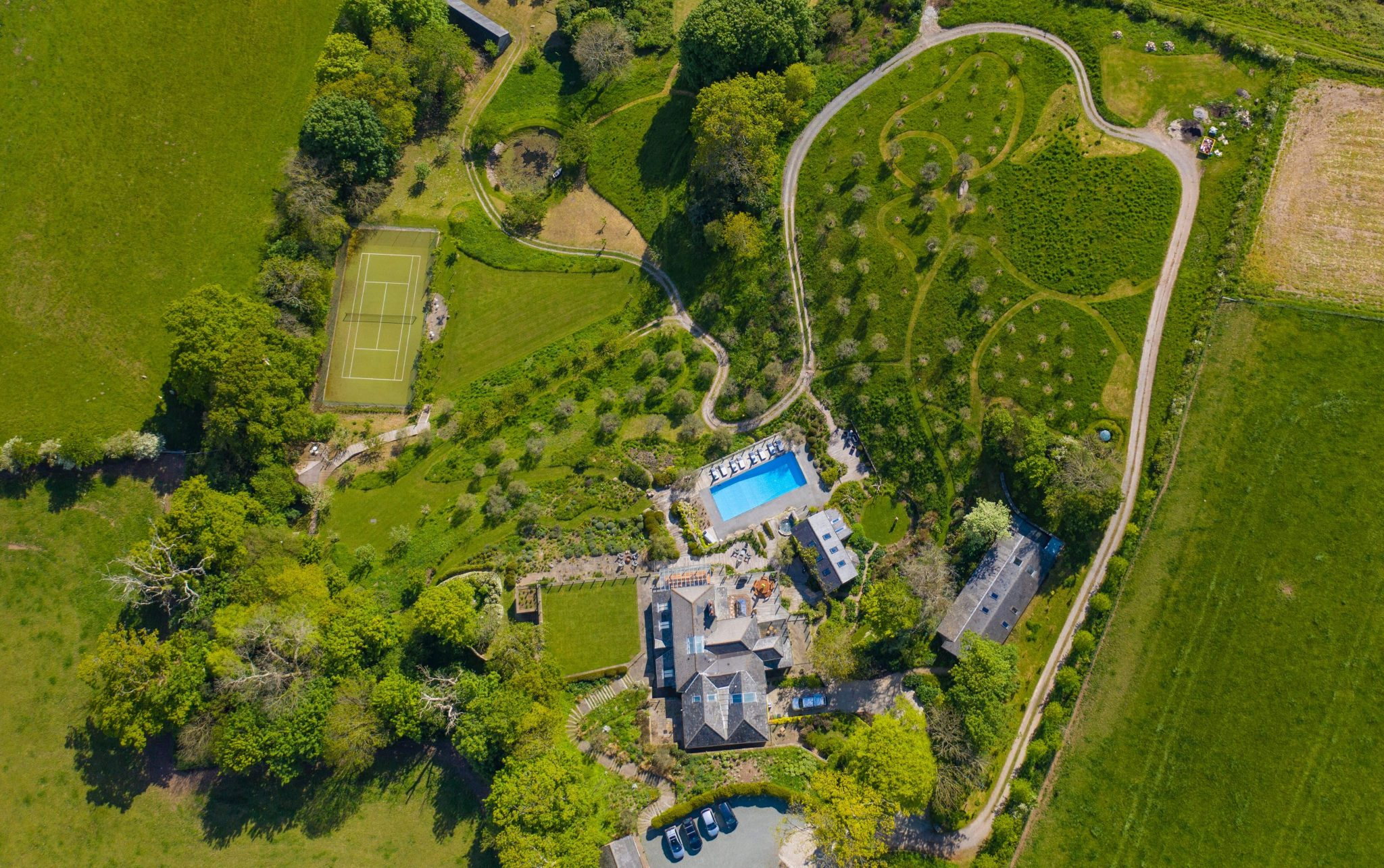 ariel view of worden house